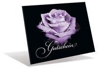 Aktion: 10 Gutscheinkarten ♦ Faltkarte ♦ Rosenblüte