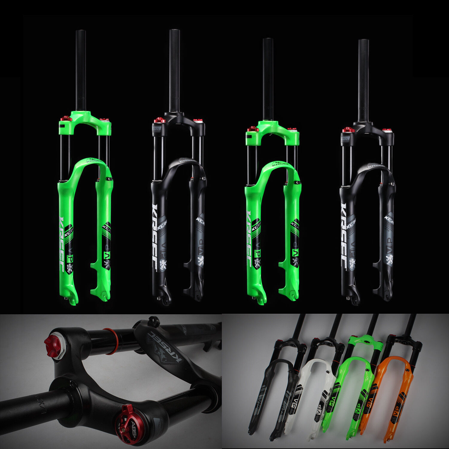MTB Bike Front Forks Air Suspension Forks For 26'' 27.5'' Mountain Bicycle