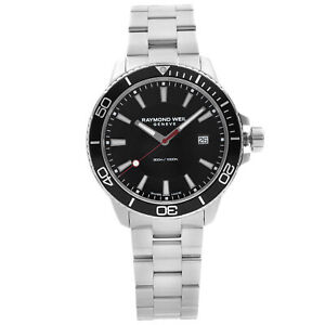 Raymond Weil Tango Stainless Steel Black Dial Quartz Mens Watch 8260-ST1-20001