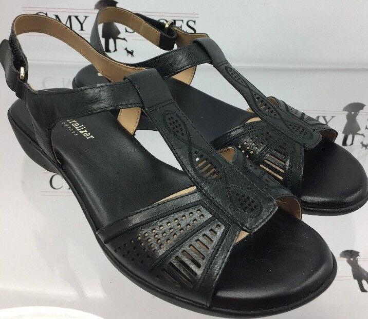 Naturalizer Women's Contour Black Strap Sandals Size 8.5 W  (  1296 ) New