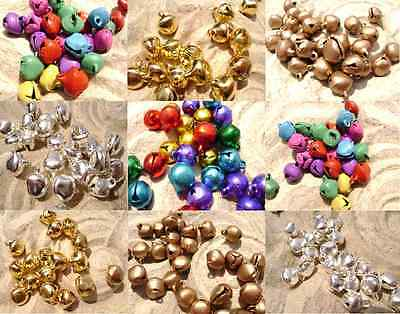 Bell Charm Bead Drop X-Mas Decore Craft Steel Aluminum ALL COLORS, 50 or 100 Qty