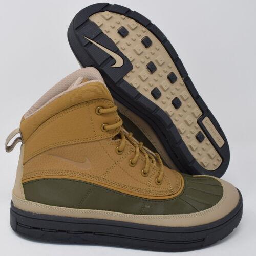Nike Woodside 2 High 524872-301 Kids GS Boots Khaki Beige