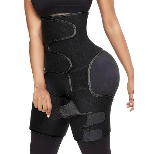 Neoprene Women Thigh Shaper Hi-Waist Leg Shapewears Slim Waist Trimmer Wrap Belt