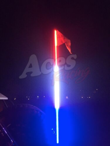 5ft Red White and Blue LED Whip with Quick Connect Warranty-RZR XP-Off-Road-UTV