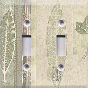 Green Tree Mold Leaves Themed Light Switch Cover Choose Your Cover