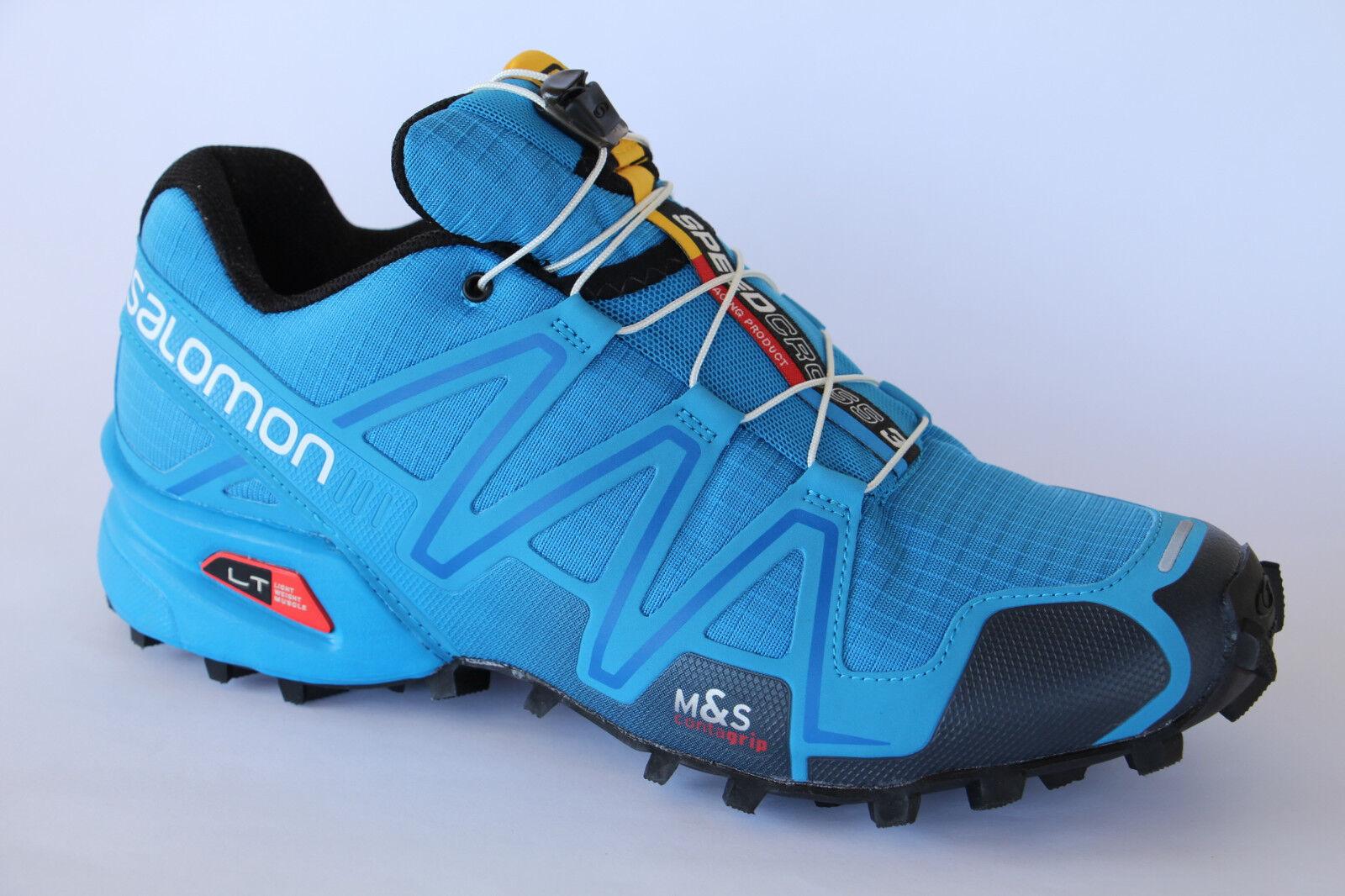 Salomon Scarpe Sportive Scarpe da Corsa Scarpe Basse Speedcross 3 Blu Nuovo