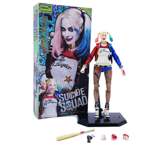 NEW CRAZY TOYS 1//12TH DC SUICIDE SQUAD HARLEY QUINN COLLECTIBLE ACTION FIGURES