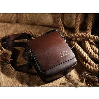 Men's Genuine Leather Briefcase Casual Business Leather Messenger Shoulder Bag