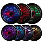 GlowShift White 7 Color Dual Needle Suspension Gauge Air Ride Bagged GS-W713-DN