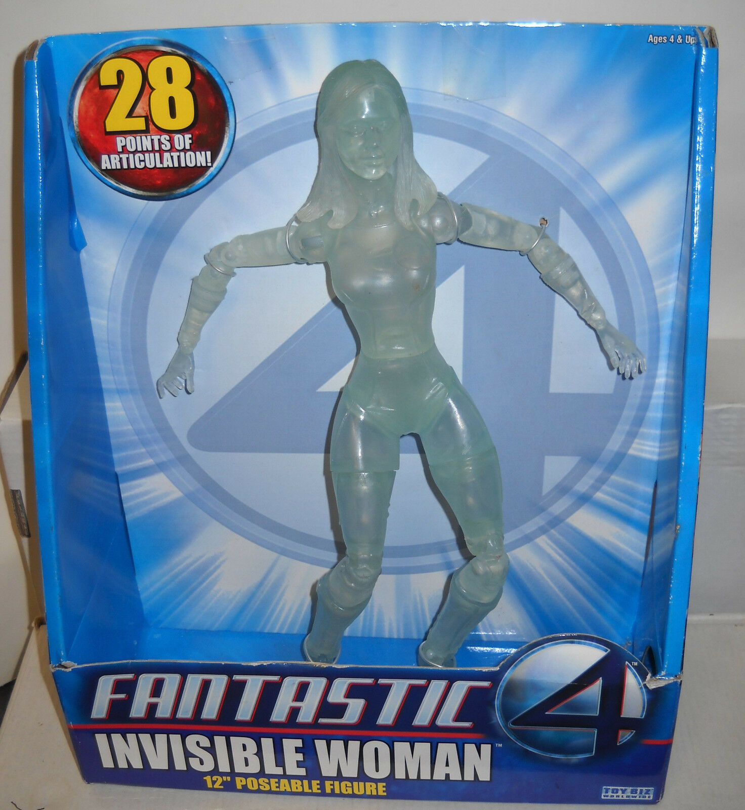 NIB Toy Biz Fantastic Four Jessica Alba 12  Invisible Woman Figure