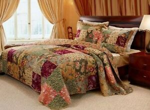 Quilted Patchwork Comforter Set Paisley Twin Oversized 100% Cotton ...