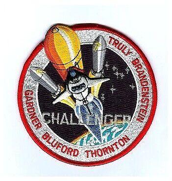 NASA CHALLENGER Truly Brandenstein Gardner Bluford Thornton 10cm Patch Badge