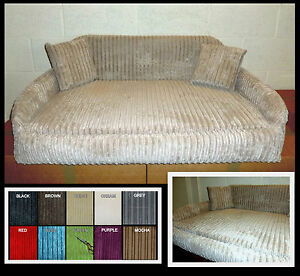 Image Is Loading Large Zippy Sofa Dog Bed Chunky Jumbo Cord
