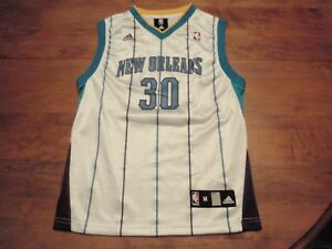 Details about David West New Orleans Hornets Adidas NBA Jersey Boys (Youth) Medium (10-12) #30