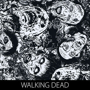 Walking Dead Zombies graphic Hydrographic Film dip stick hydro