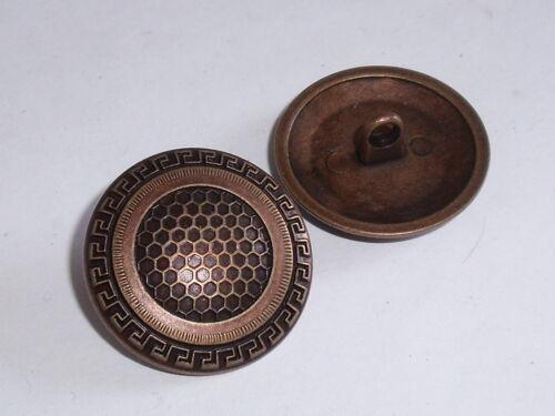 6 trozo de metal botones botón botones ojales botones 25 mm cobre mercancía nueva #348.2#