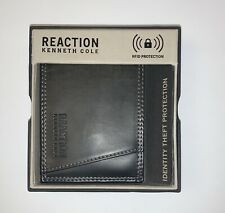 Kenneth Cole Men/'s Tan Faux Leather RFID Protection Bifold Passcase Wallet NIB