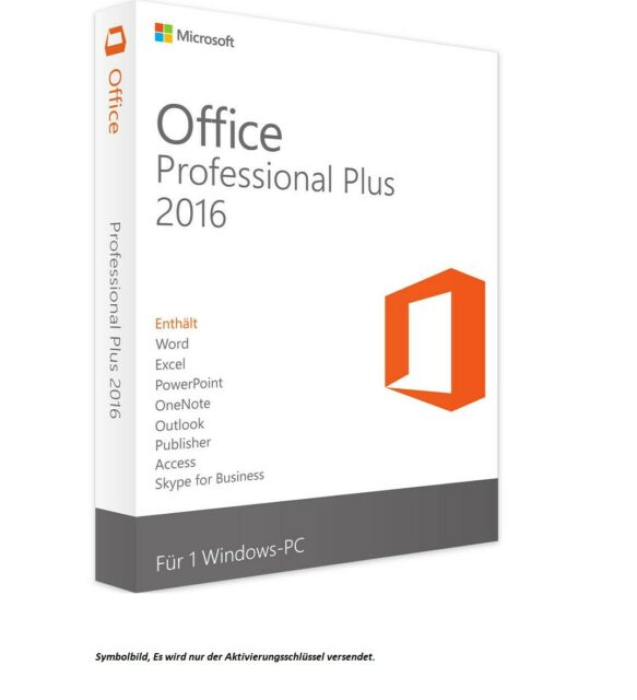 Microsoft Office 2016 Professional Plus ✔ ZEITLICH UNBEGRENZT ✔ DEUTSCH ✔ 1 PC ✔