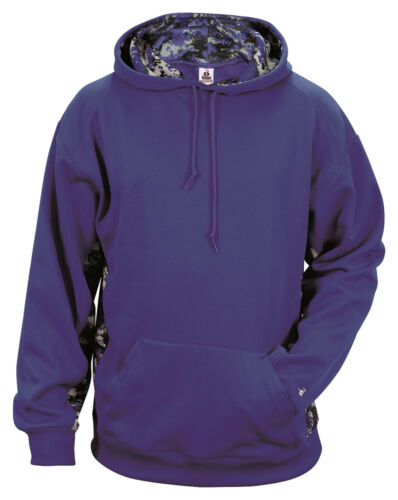 Badger Youth Polyester Long Sleeve Front Pouch Pocket Winter Hooded 2464