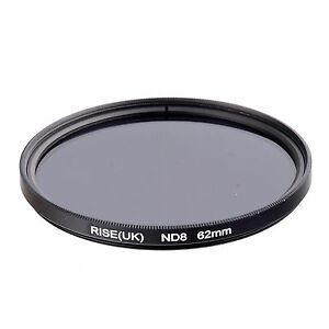 RISE-UK-62MM-62mm-Neutral-Density-ND8-filter-for-ALL-DSLR-SLR-Camera-lens