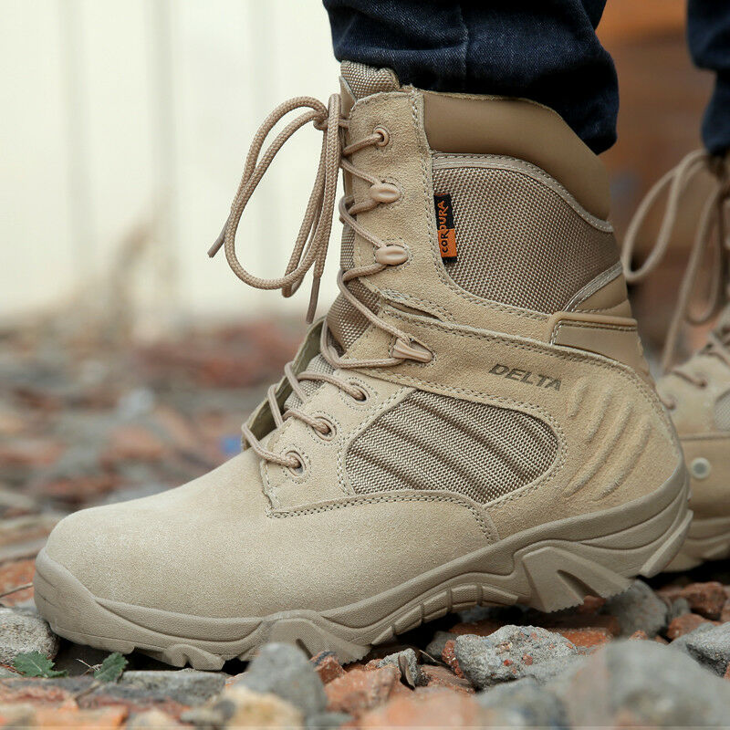 Men Military Boots Special Force Ankle Boats Army shoes Leather Snow Boots 2018