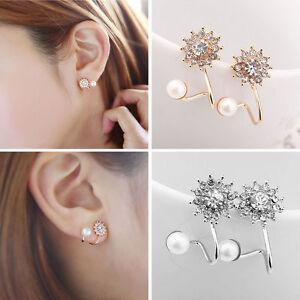 1Pair-Women-Fashion-Jewelry-Lady-Elegant-Pearl-Rhinestone-Ear-Stud-Earrings-New