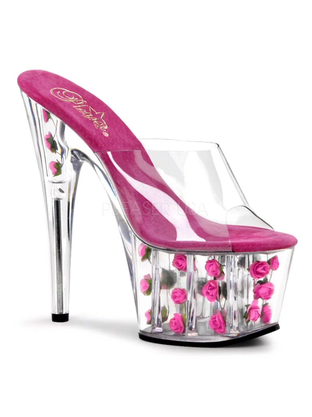 New Exotic Größe 9 Stripper Stripper Stripper Dancer Stiletto platform Rosa Rosa Heels 7 Inches ee52e4