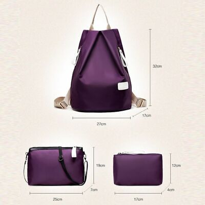 Women Nylon Bag Set Female School Teenager Girls Lady Crossbody Shoulder Fashion