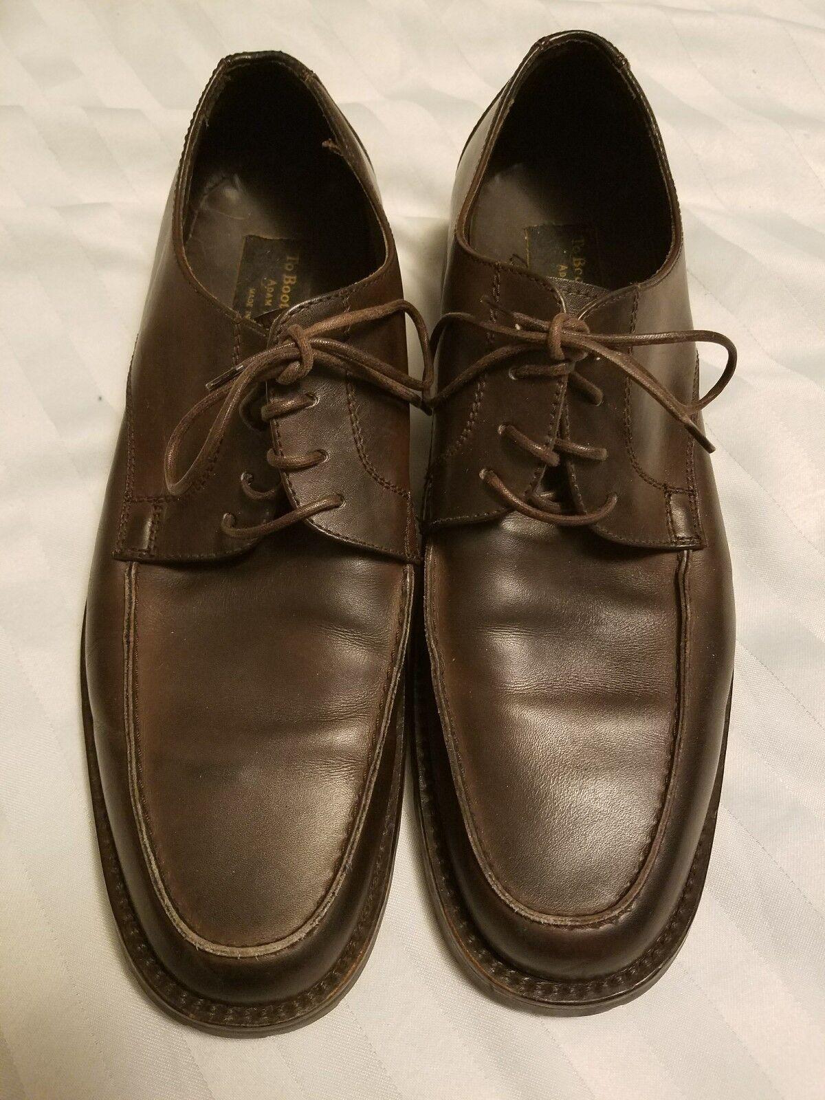 TO BOOT NEW YORK Uomo Dress Scarpe Dark marrone Pelle Italian Oxfords Taglia 11 1/2