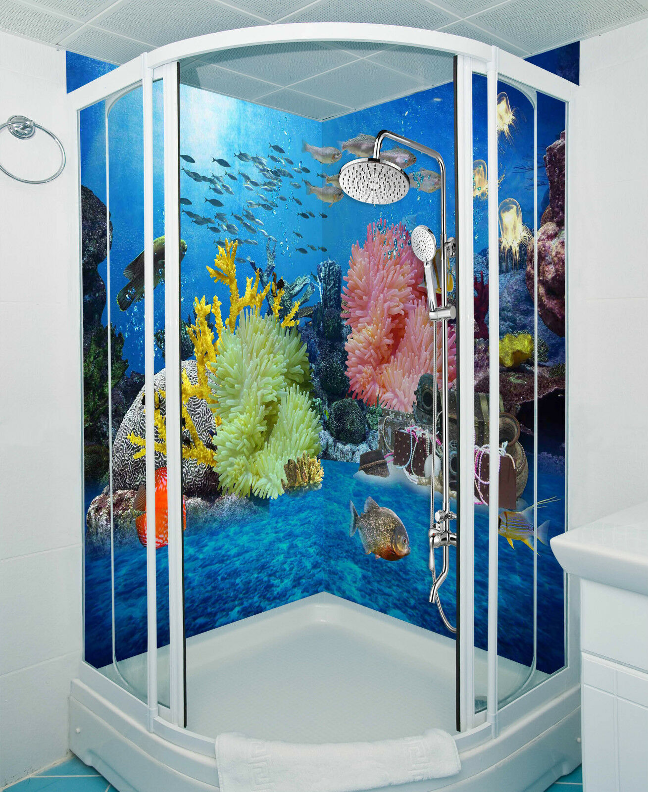 3D Farbeful Ocean 093 WallPaper Bathroom Print Decal Wall Deco AJ WALLPAPER CA