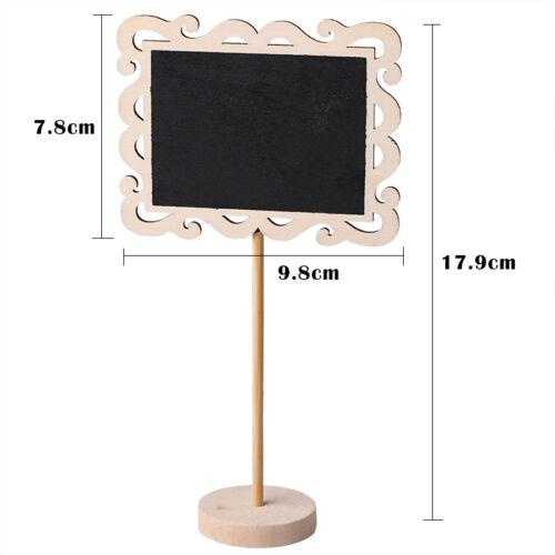 Mini Wooden Chalkboard Blackboard Message Table Number Wedding Party Decoration