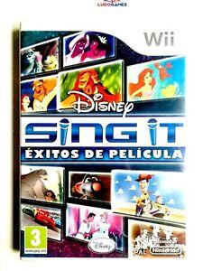 Sing-It-Succes-de-Film-Pal-Spa-Wii-Scelle-Neuf-Scelle-Produit-Nouveau-Retro