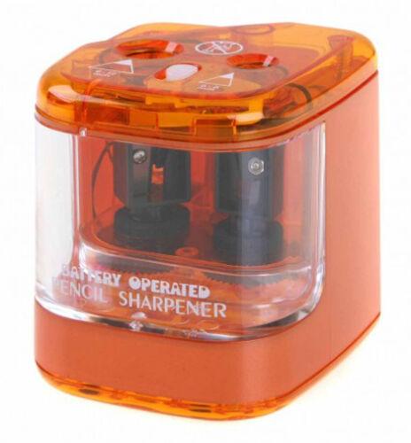 Blue Green Jakar 5156 Twin Hole Battery Pencil Sharpener Red Orange