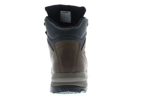 Details about  /Hi-Tec Peakmid PEAKMID Mens Brown Leather Lace Up Hiking Boots