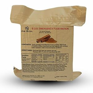 s o s emergency food rations cinnamon flavor with 5 year. Black Bedroom Furniture Sets. Home Design Ideas