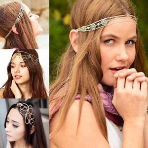 Head-Chain-Jewelry-Metal-Rhinestone-Headband-Head-Piece-Hair-Band-BV