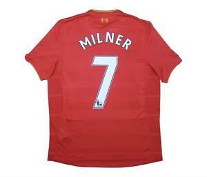 Liverpool 2016-17 ORIGINALE HOME SHIRT Milner #7 (eccellente) L soccer jersey