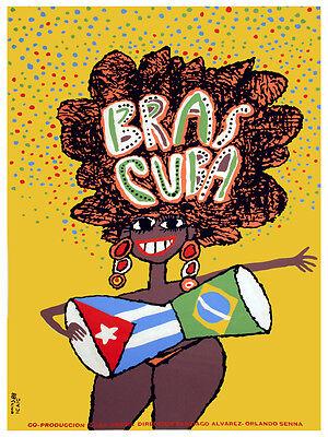 Cuban Movie Poster.RUMBA.Dancing Musical.Home room interior design art.Decor