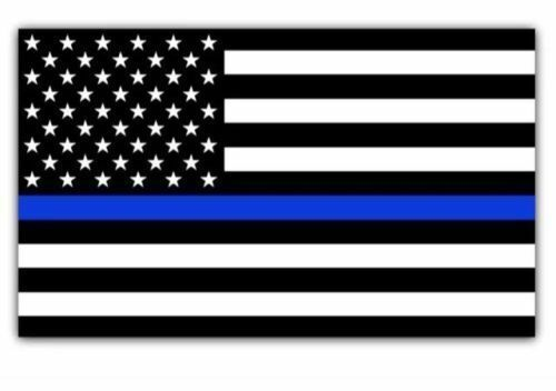 Decal #198 Made in U.S.A. Angel Crying Thin Blue Line Police Sticker
