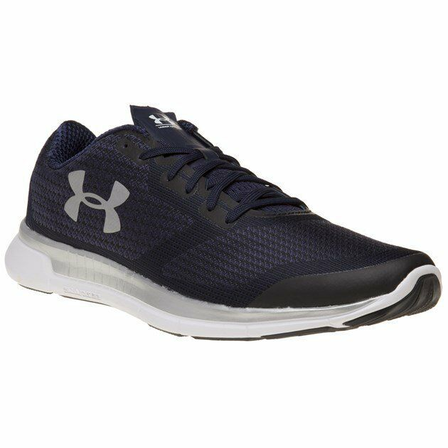 Mens Under Armour Blue Charged Lightning Nylon Sneakers Running Style Lace