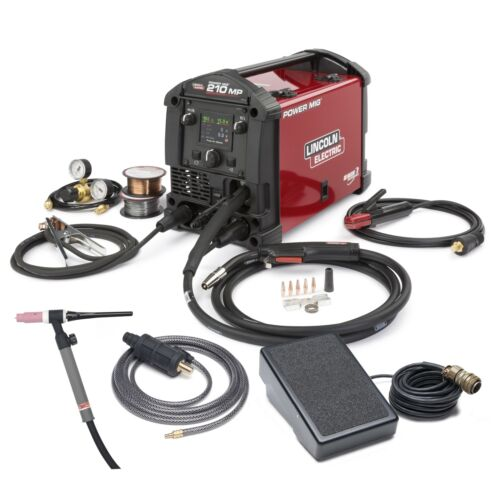 Lincoln Power MIG 210 MP Multi Process Welder with TIG Kit K4195-2