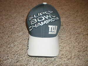 69246a9b Details about NY Giants Super Bowl XLVI Champions fitted hat cap one size  NFL Reebok