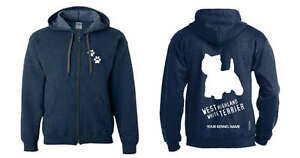 West Highland White Terrier Full Zipped Dog Breed Hoodie To Adopt Advanced Technology Dogeria Design