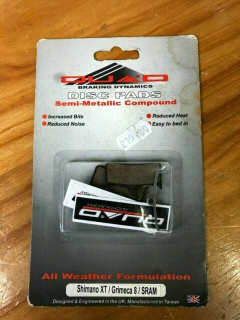 disk brake 2 brake pads clarks organic disc pad formula b4 new