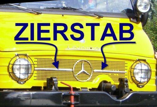 Zierleiste Zierstab Unimog 406 403 407 Rarität Kühlergrill 2 Stück M88