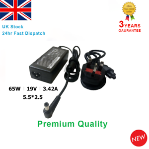 Laptop-Charger-AC-Adapter-Power-Supply-19V-3-42A-5-5-2-5mm-65W-Asus-X502C-X550C