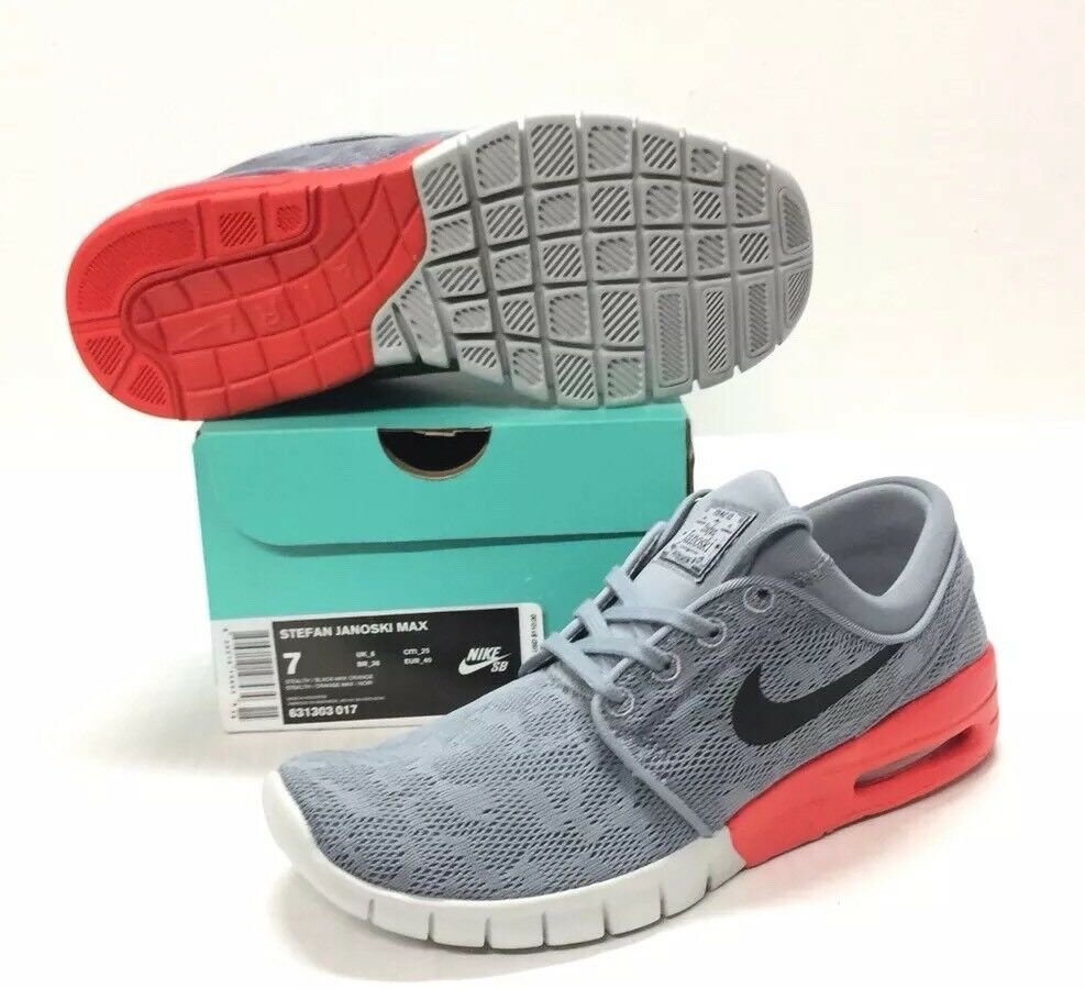 The latest discount shoes for men and women NIKE SB STEFAN JANOSKI MAX STEALTH / BLACK - MAX ORANGE