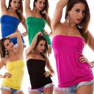 77319baaf83 Haut Corset Pull Femme Jersey Maillot de Corps T-Shirt Coloré Is ...