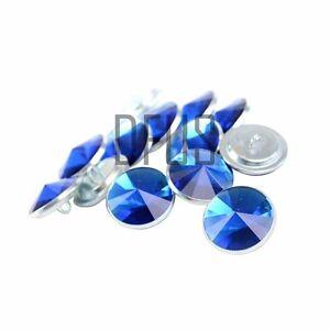 Bleu strass cristal boutons en tissu 20mm loop back * tête de lit canapé  </span>
