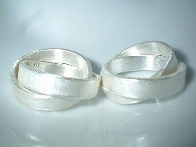 24 Gramm Eheringe Zweier Ring Aufstrebend Partnerringe Silber 999 Ca Flamere Design Knitterfestigkeit